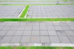 Passaggio pedonale di colore del mattone Fotografia Stock
