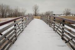 Passaggio pedonale di inverno immagine stock