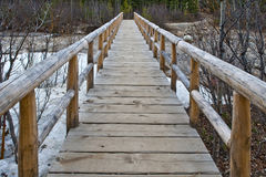 Passaggio pedonale di legno Fotografia Stock