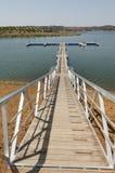 Passaggio pedonale di legno Immagini Stock