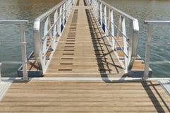 Passaggio pedonale di legno Fotografie Stock Libere da Diritti