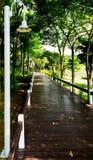 Passaggio pedonale di legno del percorso Immagini Stock Libere da Diritti