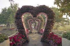 Passaggio pedonale di nozze in parco pubblico Fotografia Stock