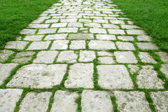 Passaggio pedonale di pietra Fotografie Stock