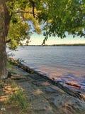 Passaggio pedonale di pietra del fiume Fotografia Stock