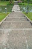 Passaggio pedonale di pietra del percorso Immagine Stock Libera da Diritti