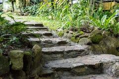 Passaggio pedonale di pietra delle scale Immagini Stock