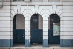 Passaggio pedonale di vecchia costruzione fotografie stock libere da diritti