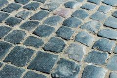 Passaggio pedonale di vecchie pietre per lastricati Fotografia Stock