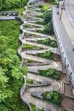 Passaggio pedonale di Zig Zag Fotografia Stock