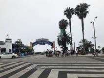 Passaggio pedonale e di Santa Monica fotografia stock libera da diritti