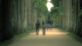 Passaggio pedonale e la gente al giardino botanico di Jardim Botanico Fotografia Stock Libera da Diritti