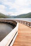 Passaggio pedonale nel lago Coldwater Fotografia Stock