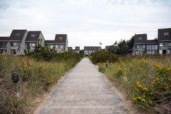 Passaggio pedonale nell'hotel della spiaggia Fotografia Stock