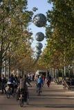 Passaggio pedonale, parco olimpico di Londra 2012, Londra, Inghilterra Fotografia Stock
