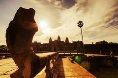 Passaggio pedonale/ponte a Angkor Wat Immagine Stock