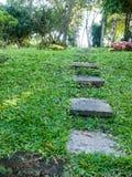 Passaggio pedonale quadrato del calcestruzzo di forma Immagini Stock Libere da Diritti