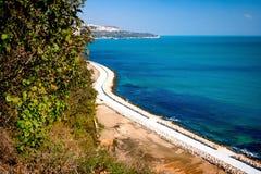 Passaggio pedonale sul Mar Nero in Bulgaria. Fotografie Stock
