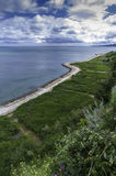 Passaggio pedonale sulla città della riva di Mar Nero di Balchik in Bulgaria Fotografia Stock