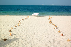 Passaggio pedonale sulla spiaggia Immagini Stock