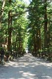 Passaggio pedonale in tempio giapponese fotografia stock libera da diritti