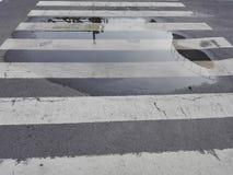 Passaggio pedonale trasversale della zebra Fotografia Stock Libera da Diritti