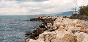 Passaggio pedonale verso Albena Immagini Stock
