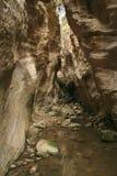 Passaggio roccioso stretto della gola di Avakas al Cipro Fotografia Stock Libera da Diritti