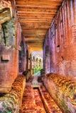 Passaggio sotteraneo sotto l'arena dell'anfiteatro di Capua Fotografia Stock