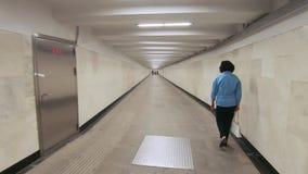 Passaggio sotterraneo di Okhotny Ryad video d archivio