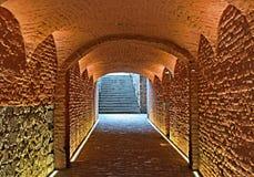 Passaggio sotterraneo medievale Immagini Stock