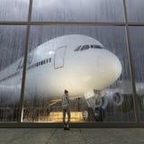 Passagier in de luchthaven Royalty-vrije Stock Foto