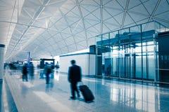 Passagier in de luchthaven Stock Foto's