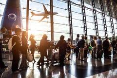 Passagier in de luchthaven Stock Afbeeldingen