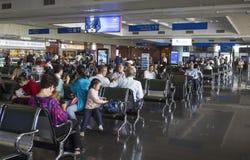 Passagier die op het zijn wachten uitgenodigde raad Royalty-vrije Stock Foto's