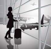 Passagier, schwarz-weiß Stockbild