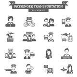 Passagier-Transport-Ikone Lizenzfreies Stockfoto