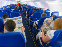 Passagiere an Bord nach Moskau Lizenzfreie Stockfotos