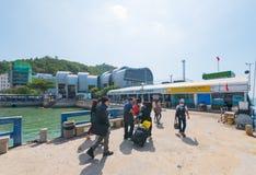 Passagiere vom Tragflügelboot Saigon - Vungtau Lizenzfreie Stockbilder