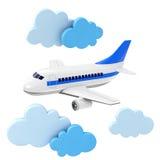 Passagierflugzeug Lizenzfreie Stockfotografie