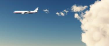 Passagierflugzeug Lizenzfreie Stockbilder