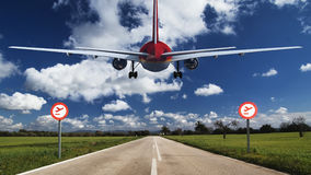 Passagierflugzeug Stockfotografie
