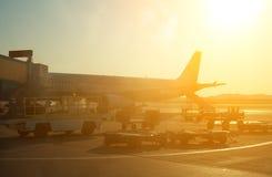 Passagierflugzeug Lizenzfreies Stockfoto