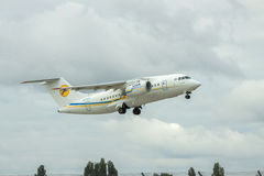 Passagierflugzeug Antonows An-148 Lizenzfreies Stockbild