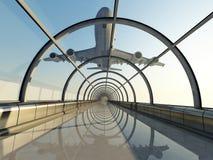 Passagierflugzeug lizenzfreie abbildung