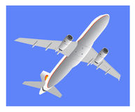 Passagierflugzeug vor der Landung Stockbild