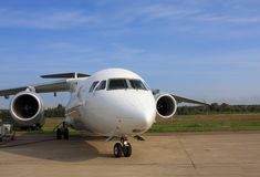 Passagierflugzeuge 158 Stockbild