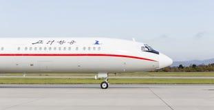 Passagierflugzeuge Tupolev Tu-154 von Air Koryo Nordkorea auf Rollbahn Luftfahrt und Transport stockfotos