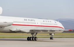 Passagierflugzeuge Tupolev Tu-154 von Air Koryo Nordkorea auf Rollbahn Luftfahrt und Transport lizenzfreies stockbild