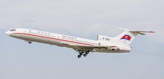 Passagierflugzeuge Tupolev Tu-154 von Air Koryo Nordkorea in einem Himmel Luftfahrt und Transport stockbilder